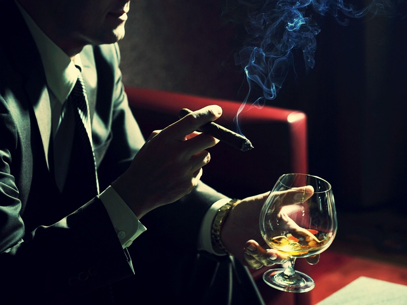 man smoking cigar and drinking cognac 1600x1200 wallpaper #drinking