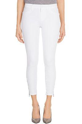 Tali Zip in Blanc, jbrandjeans.com