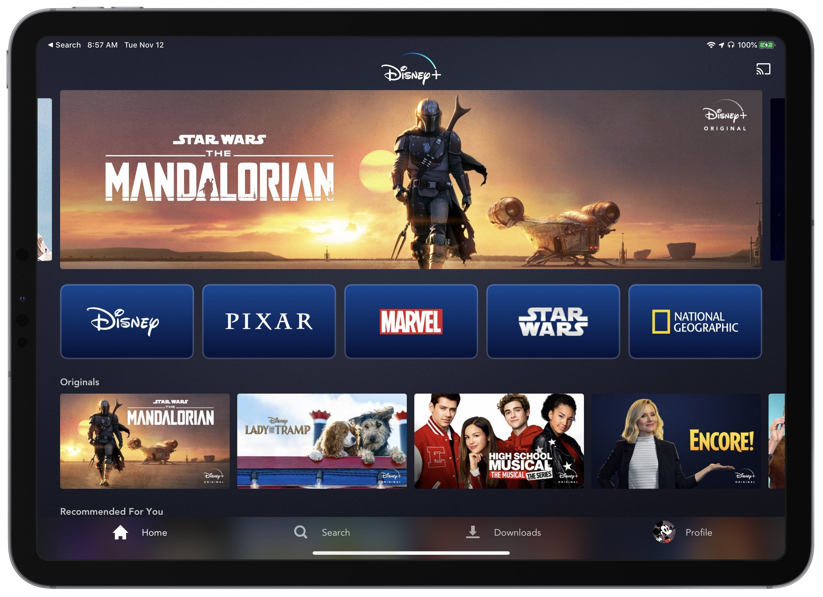 Disney streaming service arrives on iphone ipad and