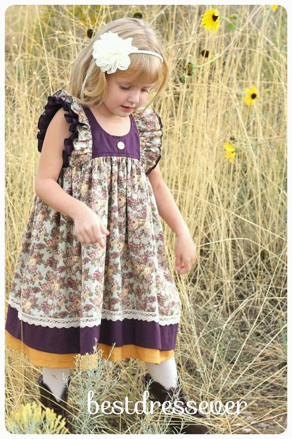Items similar to Baby Floral Outfit - Toddler Vintage Birthday Dress - Girls Party Dress - Family Photo Prop -Baby Girl Boutique Dress - Flutter Sleeve Dress on Etsy