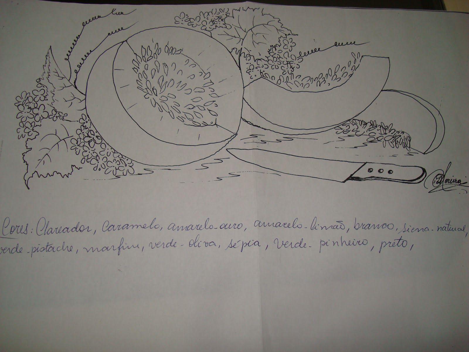 Easy D Line Drawings : Melao risco.jpg 1600×1200 journal drawing painting