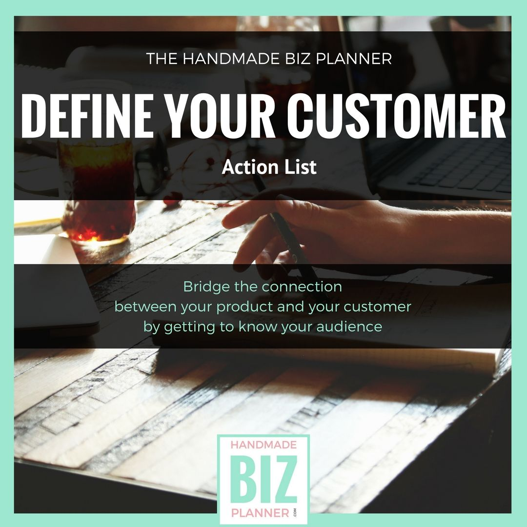 Handmade Biz Planner Define Your Customer Is An Ebook
