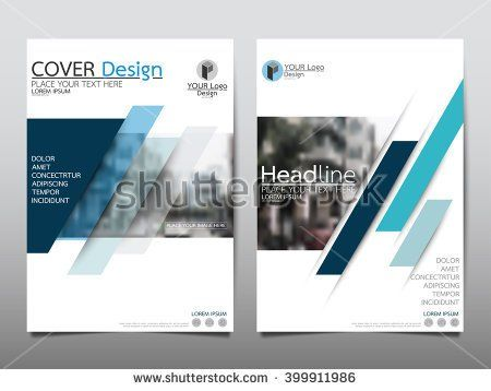 stock-vector-blue-annual-report-brochure-flyer-design-template - cover template