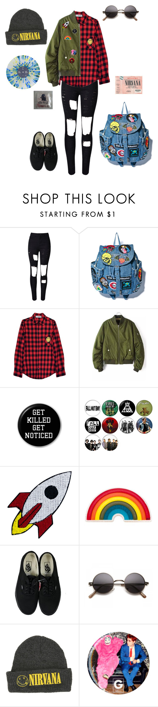 """Cigarettes After Sex"" by wedonthavetolivethisway ❤ liked on Polyvore featuring WithChic, High Heels Suicide, Anya Hindmarch and Vans"