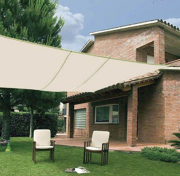 99€ 5x5 Malla de poliéster beige ideal para dar sombra y conseguir una temperatura mas agradable en tu jardín o terraza. Medidas: 5x5 m (ancho x largo).