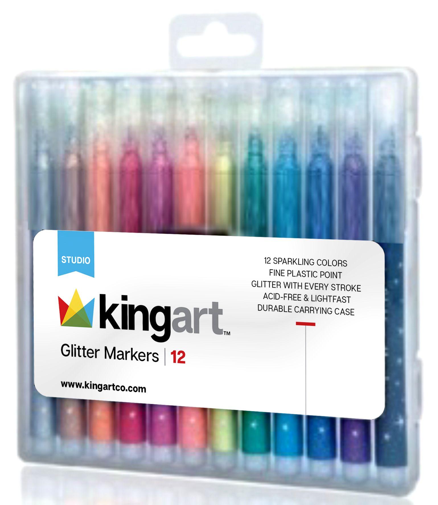 Kingart Glitter Markers Markers Glitter Pens Gel Pens