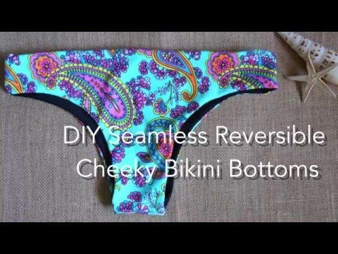 DIY Seamless Reversible Cheeky Bikini Bottoms | Craft, Sewing ...