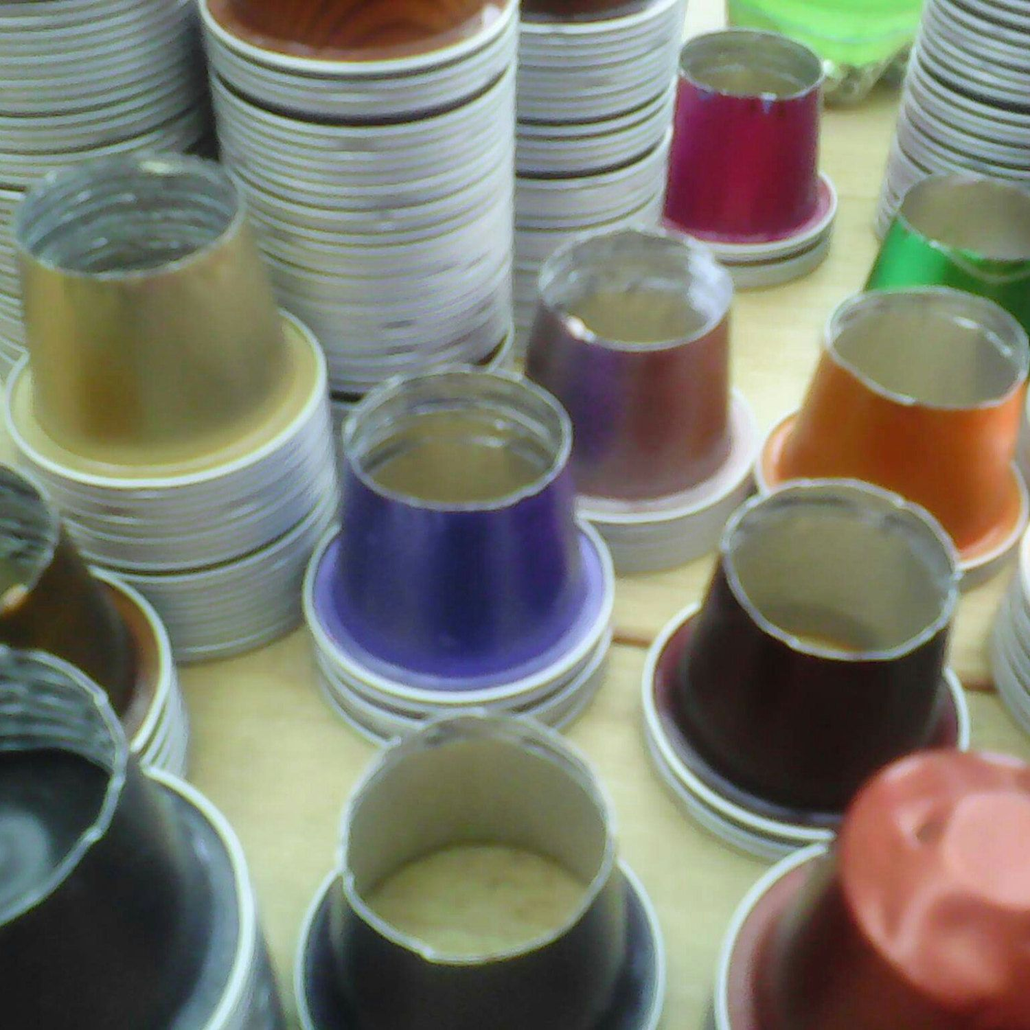 Upcycling coffee pods.
