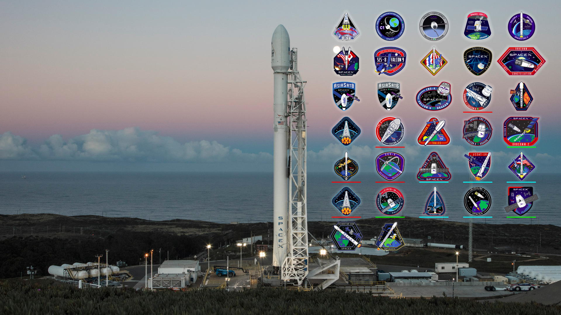 SpaceX background (1920x1080) Need iPhone 6S Plus