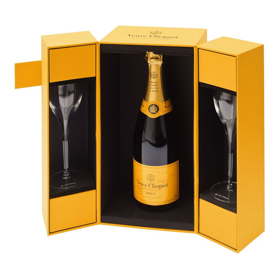 Veuve Clicquot Champagne Amp 2 Flutes Gift Set Delivery In
