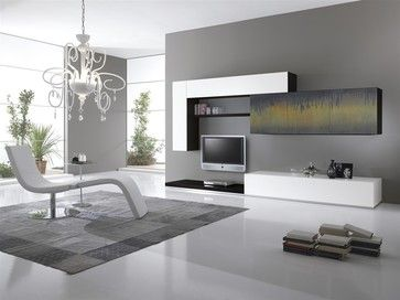 Art Decorated Wall Unit - modern - family room - new york - MIG ...