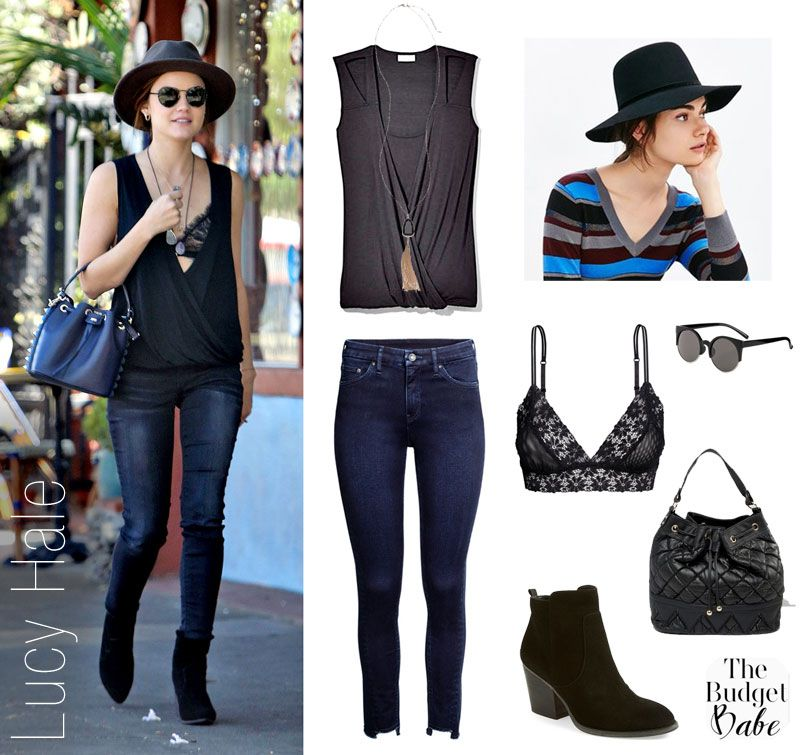 Lucy Hale fashion style look for less
