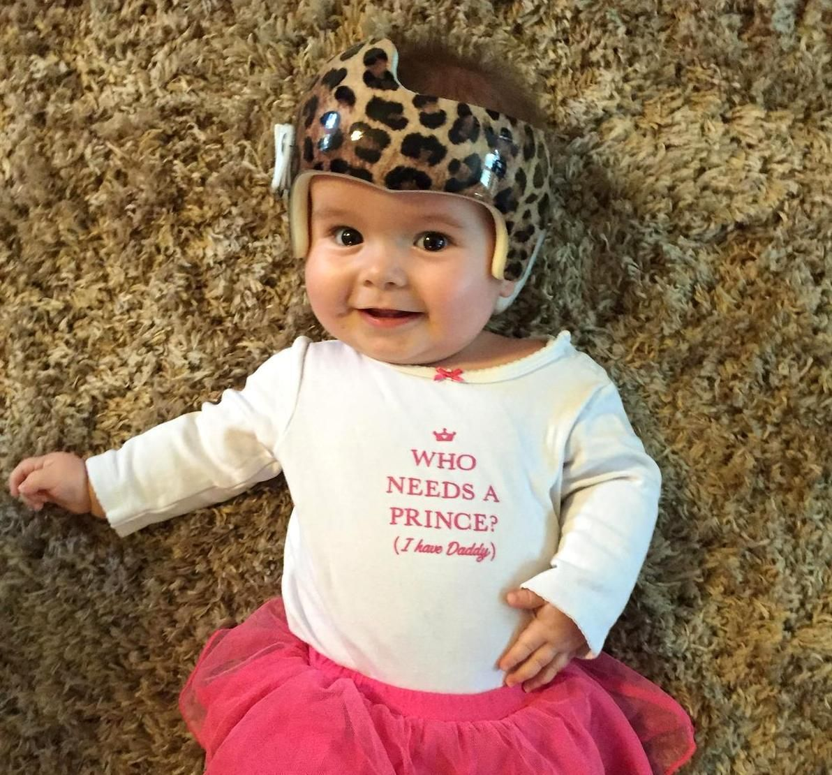 Adorable little girl wearing her newly wrapped cranial band she makes leopard print look so cute carwrapcity