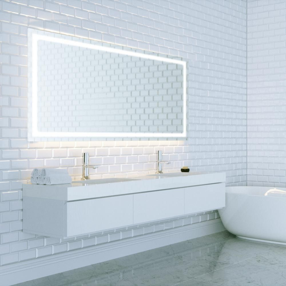 48 vanity mirror light up dyconn swan 48 in 36 led backlit vanity bathroom mirror touch onoff dimmer antifog function