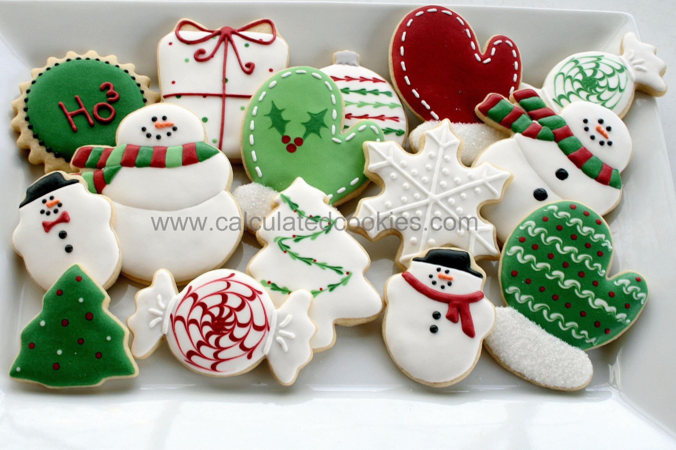 Custom Christmas Sugar Cookies By Calculated Cookies Calculated
