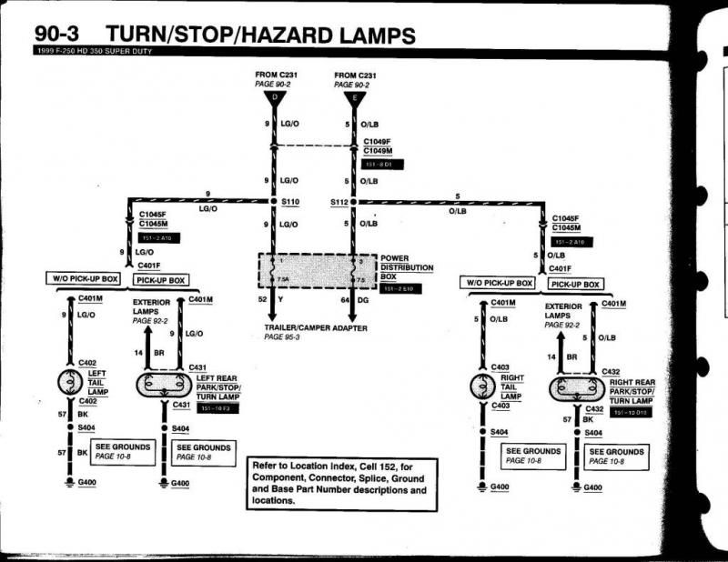 Ford F250 Wiring Diagram For Trailer Light Trailer Wiring
