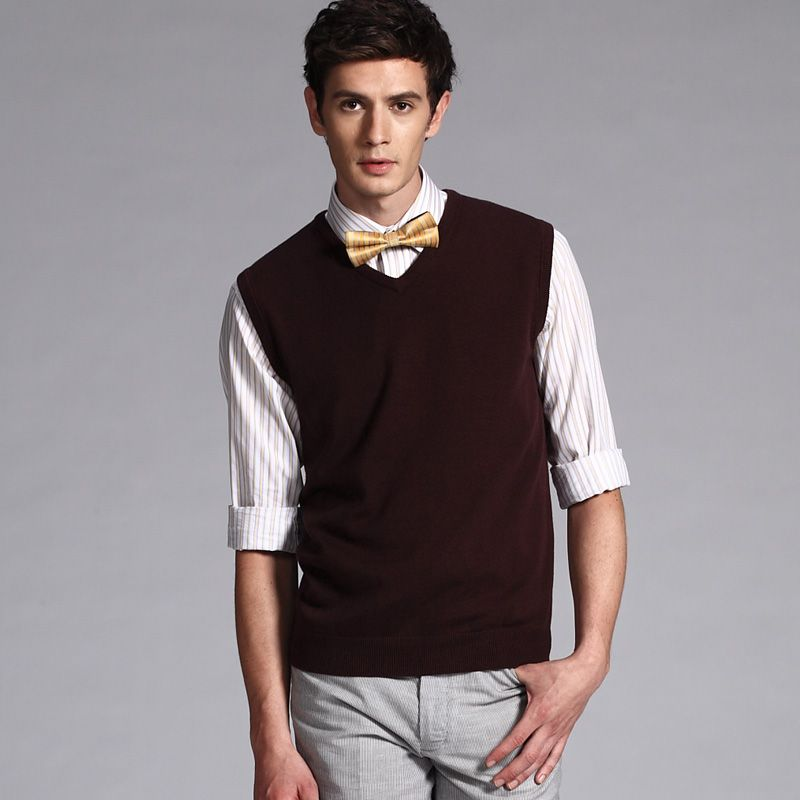 Sweater Vests And Look A Bow Tie What Men Should Wear Pinterest