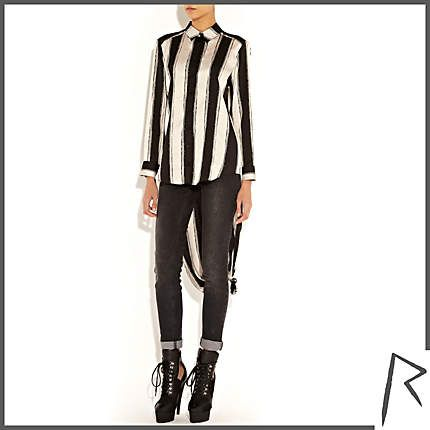 Black and white Rihanna for River Island Top