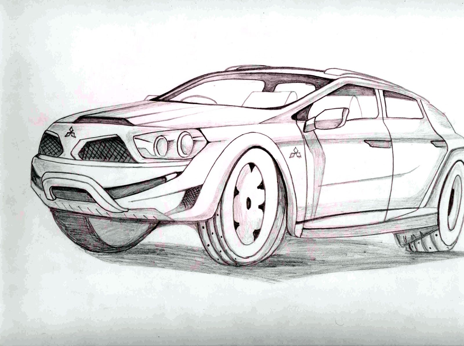 Cool pencil drawings of cars cool easy penc pencil drawings of