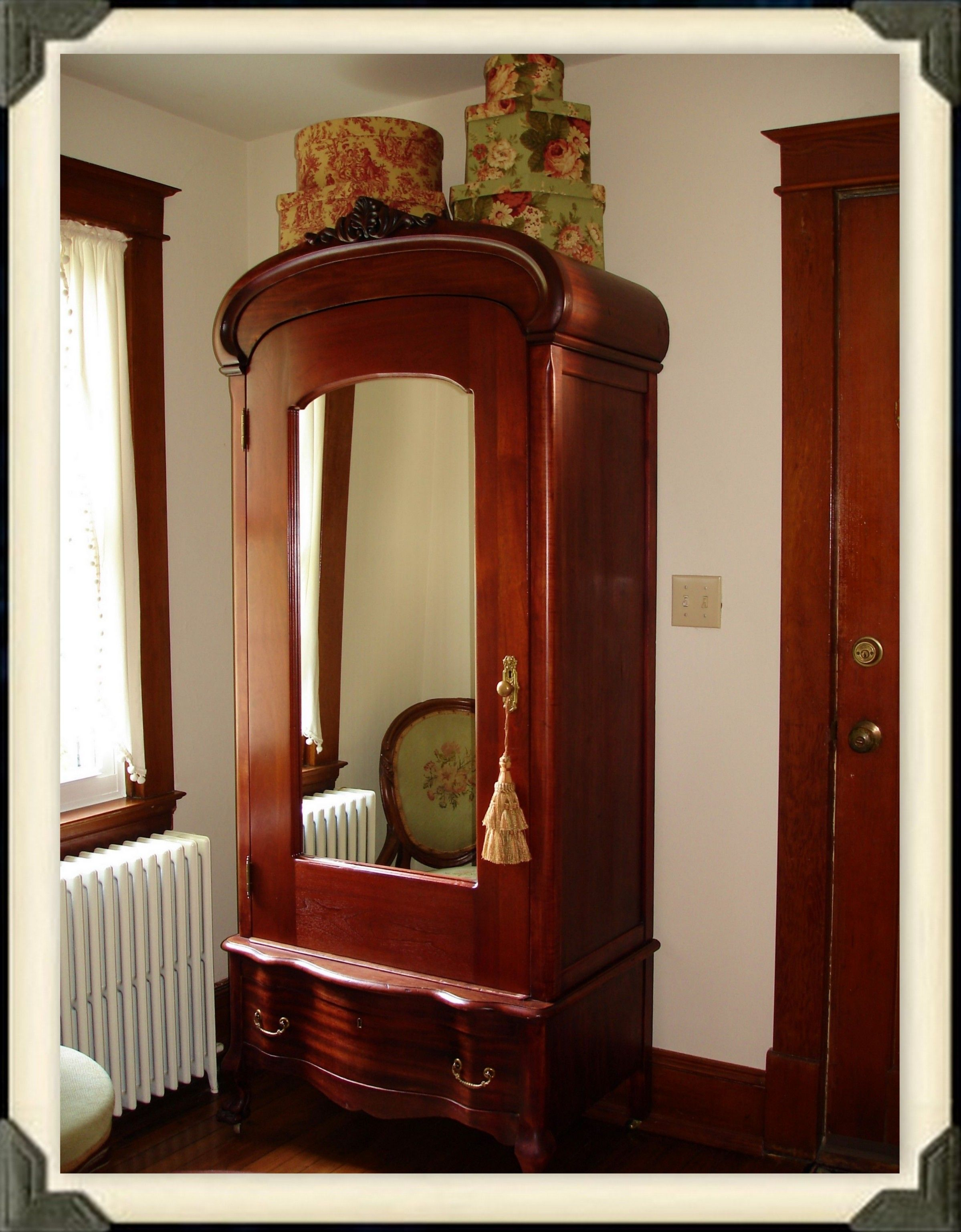 The Front Hall I Love This Antique Wardrobe Victorian Design House Styles Antique Inspiration
