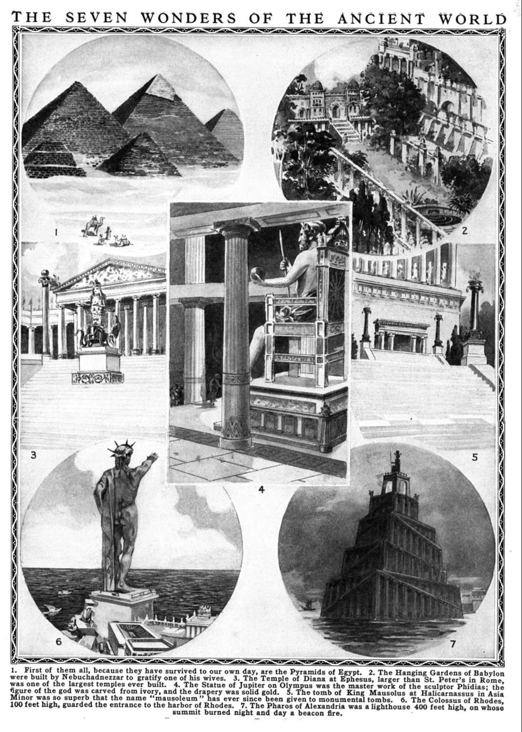 Another Artist S Idea Of The Seven Wonders Of The Ancient