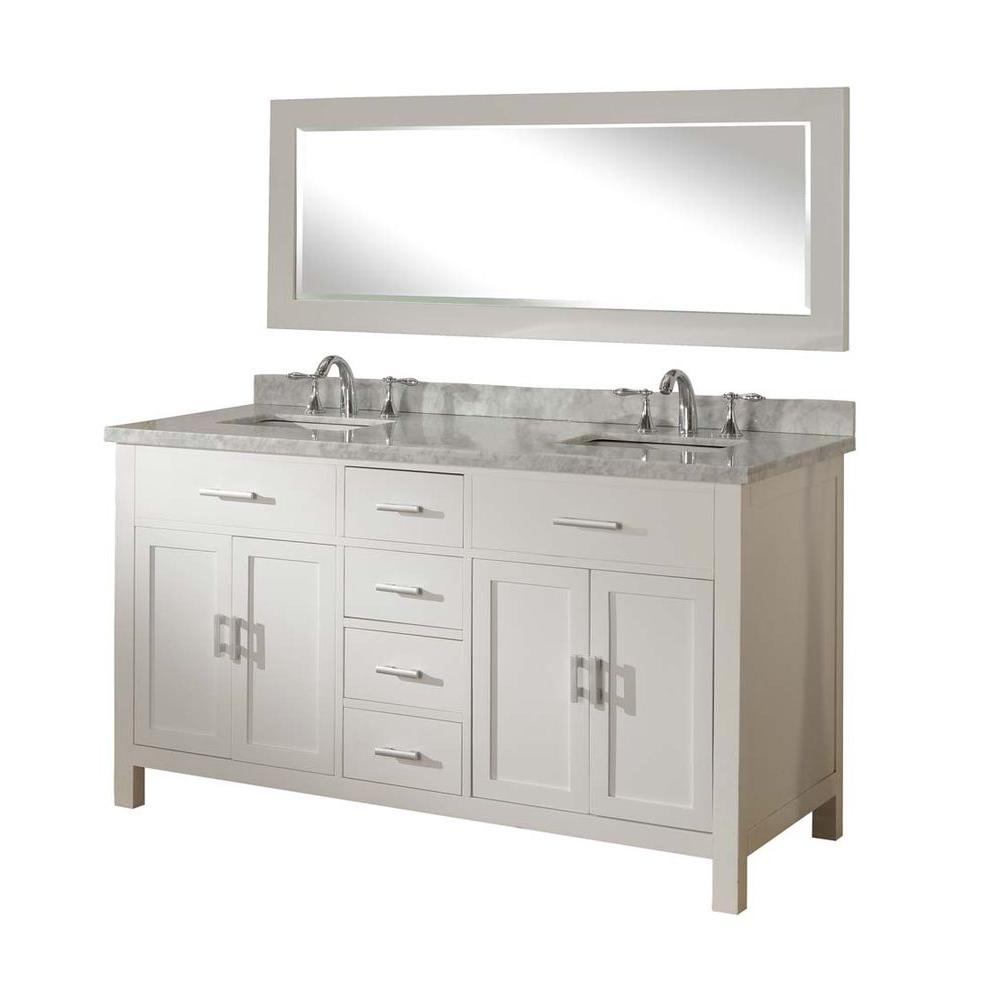 Direct Vanity Sink Hutton Spa 63 In Double Vanity In Pearl White