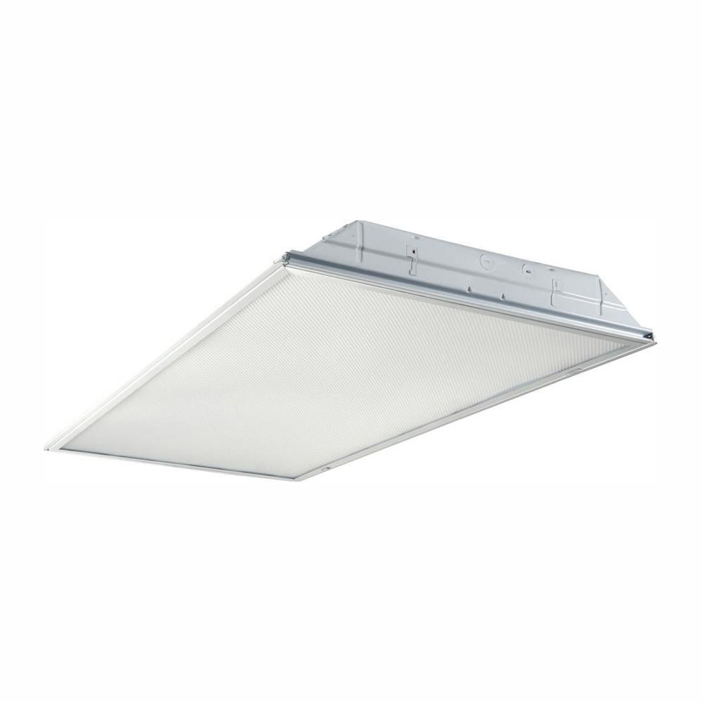 Metalux 2 Ft X 4 Ft White Integrated Led Drop Ceiling Troffer Light With 3800 Lumens 3500k Dropped Ceiling Led Ceiling