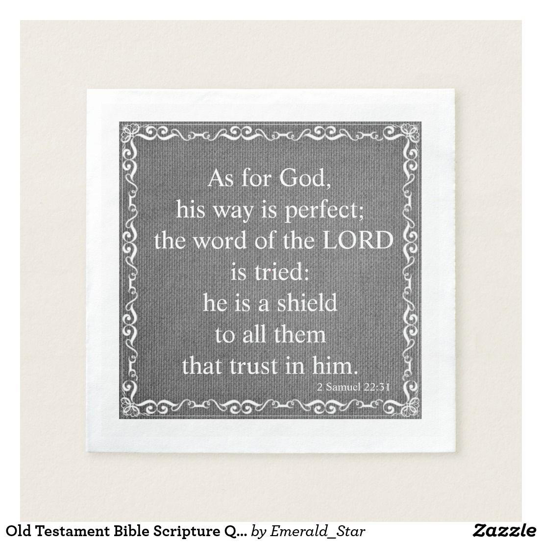 Old Testament Bible Scripture Quote 2 Samuel 22 Paper
