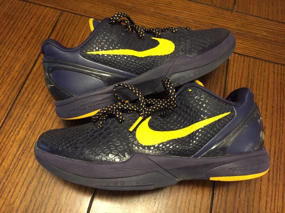 d9f81cb9638 Rare Nike Zoom Kobe VI 6 Imperial Purple Del Sol Yellow 429659-501 Sz 8   Nike  BasketballShoes
