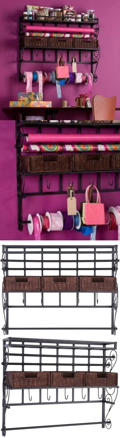 Craft And Paper Racks 146402: Upton Home Burnet Espresso Hanging Craft  Paper Dispenser Wall Mount