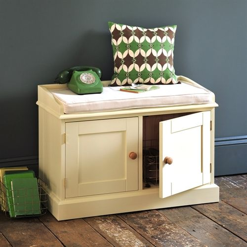 Wiltshire Painted Double Storage Bench with Cushion
