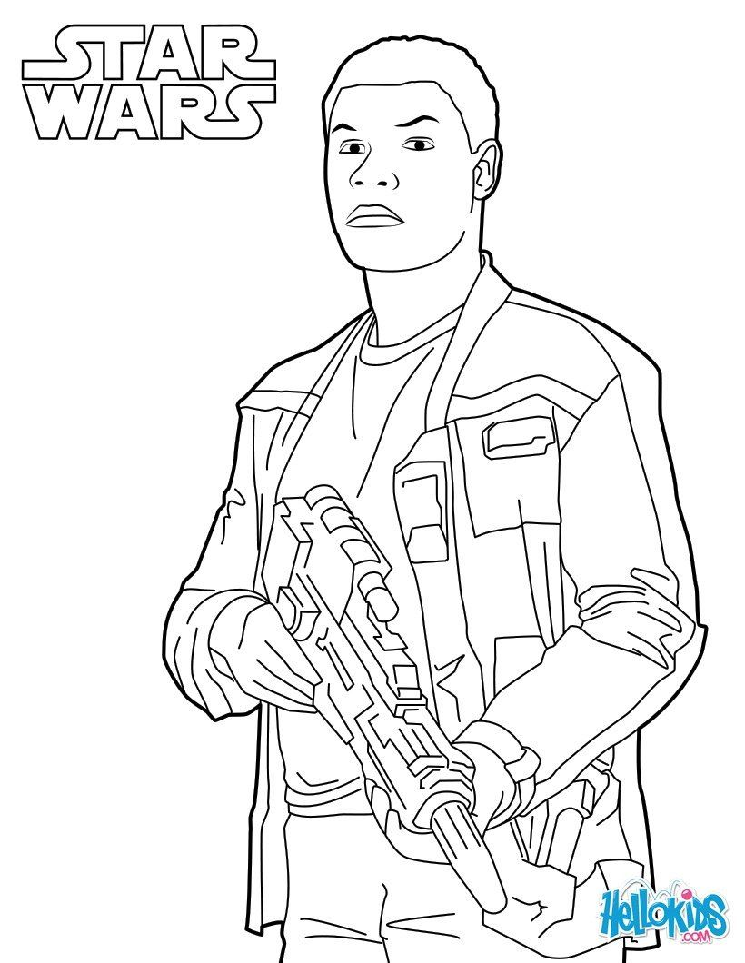 finn coloring page from the new star wars movie the force awakens more star wars content on hellokidscom