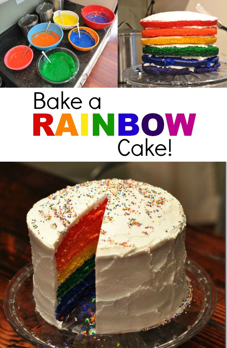 Bake A Rainbow Birthday Cake Learn How