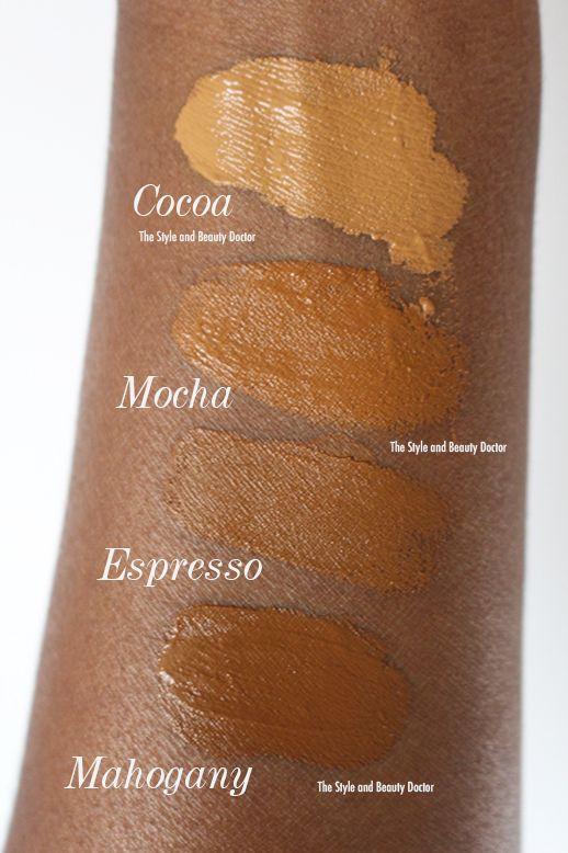 Wet N Wild Photo Focus Foundation Swatches Dark Skin Cocoa
