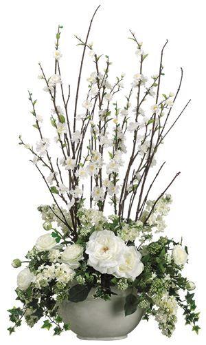 Cherry Blossom/ Rose/Ranunculus Faux Flower Arrangement