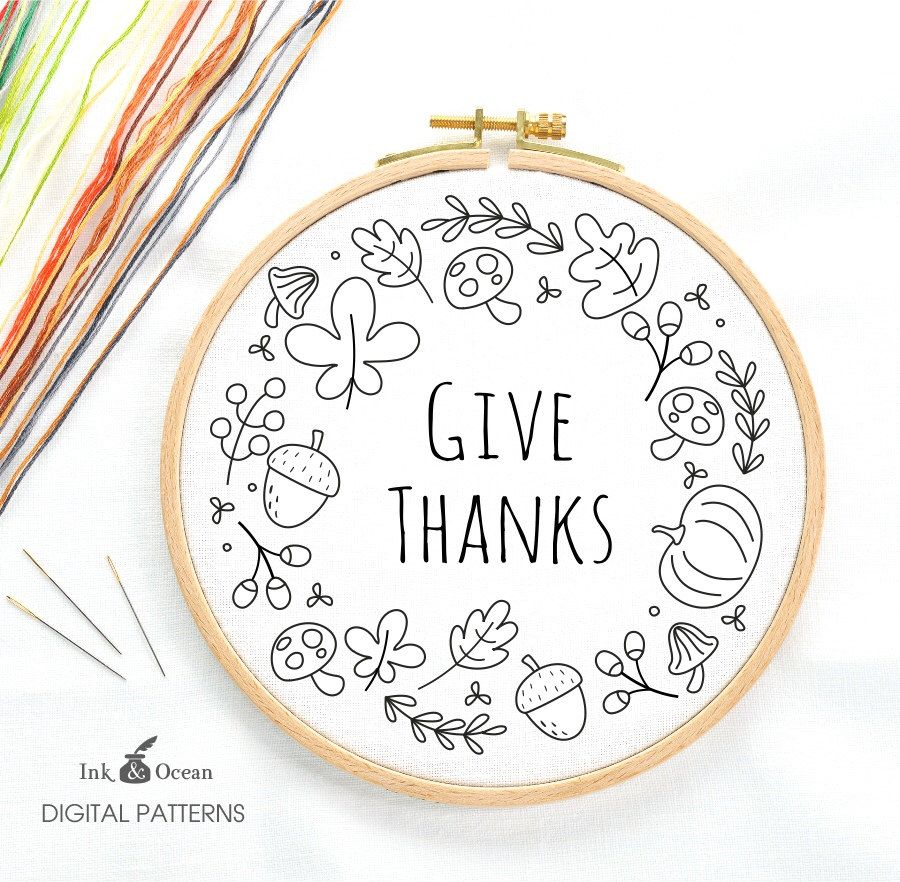 Give thanks autumn wreath sampler digital hand embroidery pattern floral lantern oriental japanese sampler digital by inkandocean hand embroidery patterns dt1010fo
