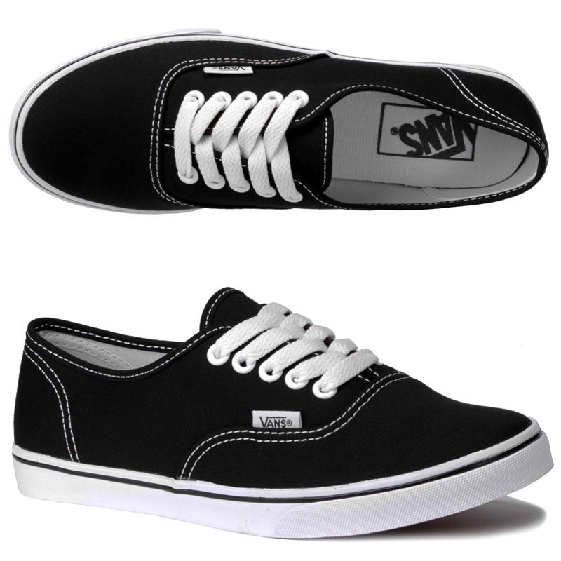 vans girls black