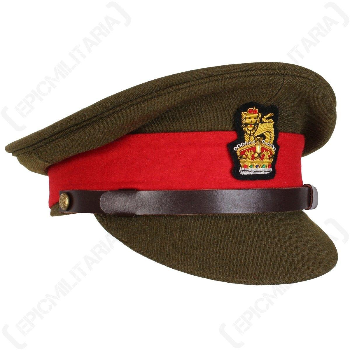 ecb424095 WW2 British Army Visor Cap - General Staff Officer Side | British ...