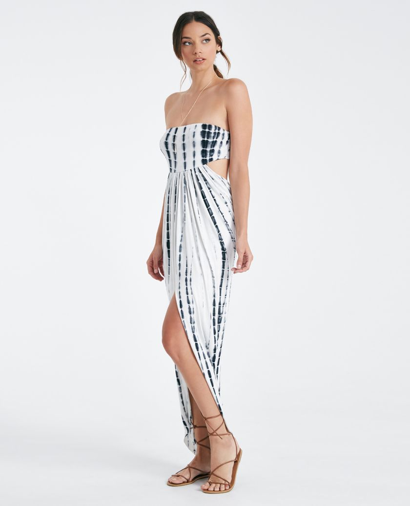 Back Open strapless dress pictures