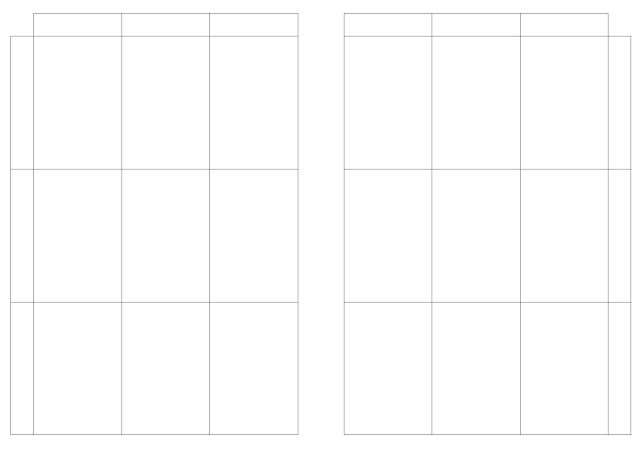 Free Printable - A5 planner insert - flexible layout horizontal