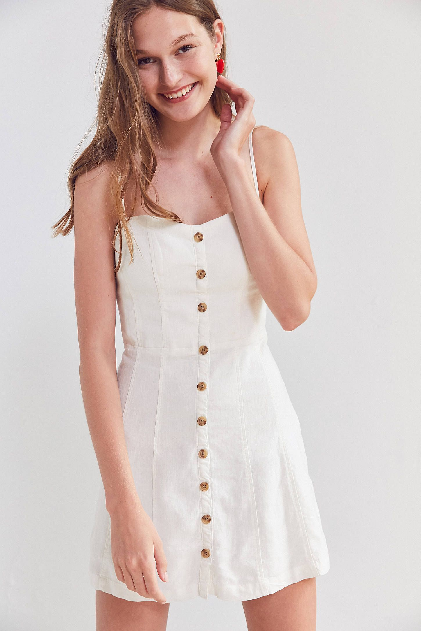 bd1fdbde6bc Shop Kimchi Blue Lilyanna Linen Button-Down Dress at Urban Outfitters  today. We carry all the latest styles