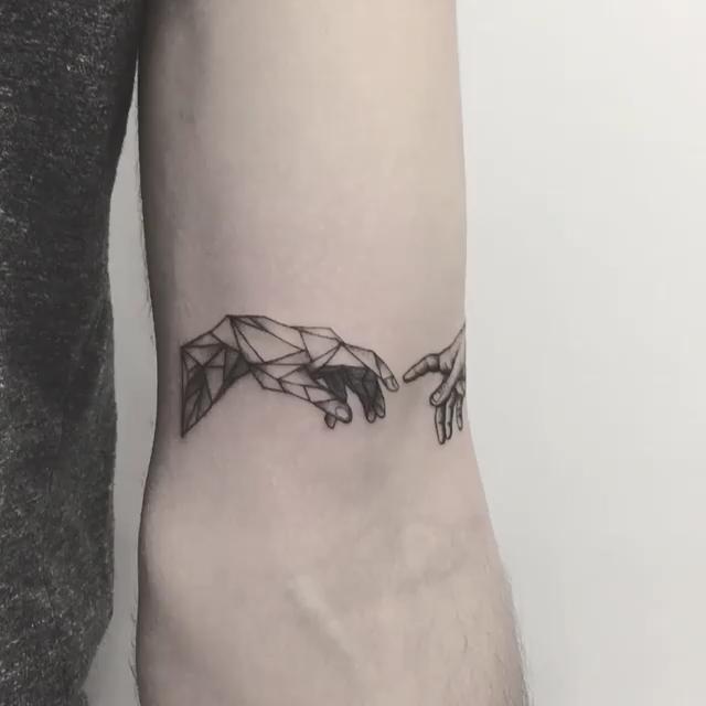 Chronic Ink Tattoo Markham Zeke Blackwork The Creation of Adam  #relationships