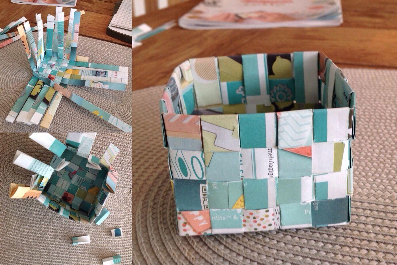paper upcycling stampin 39 up katalog schachtel flechten schachtel weben papier box. Black Bedroom Furniture Sets. Home Design Ideas