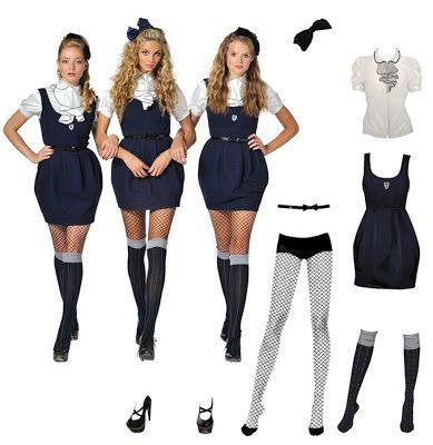 383ed1d13 St. Trinian's Posh Totties costume Dead School Girl Costume, School Girl  Dress, School