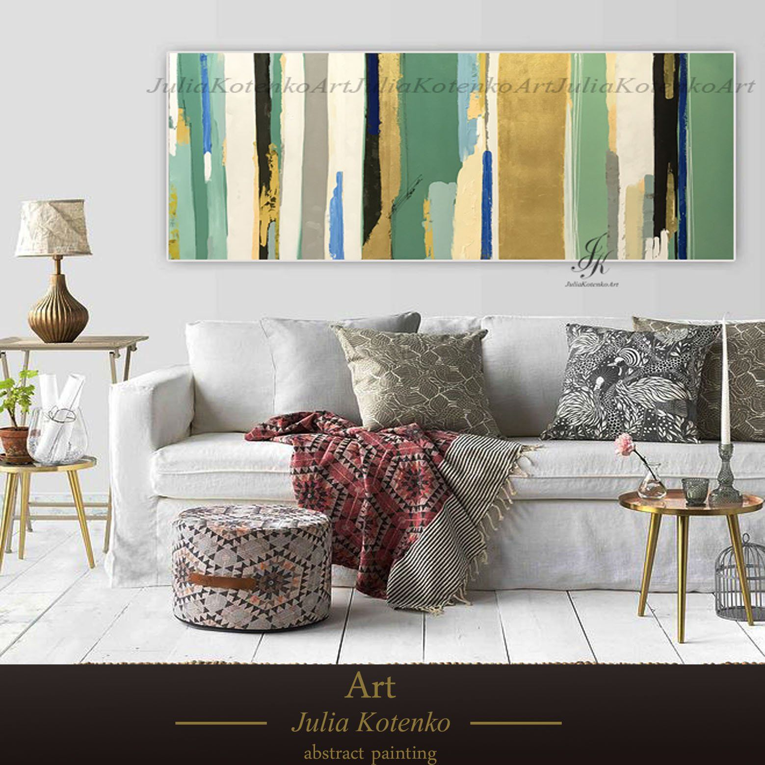 Extra large wall artgold leaf art abstract painting contemporary