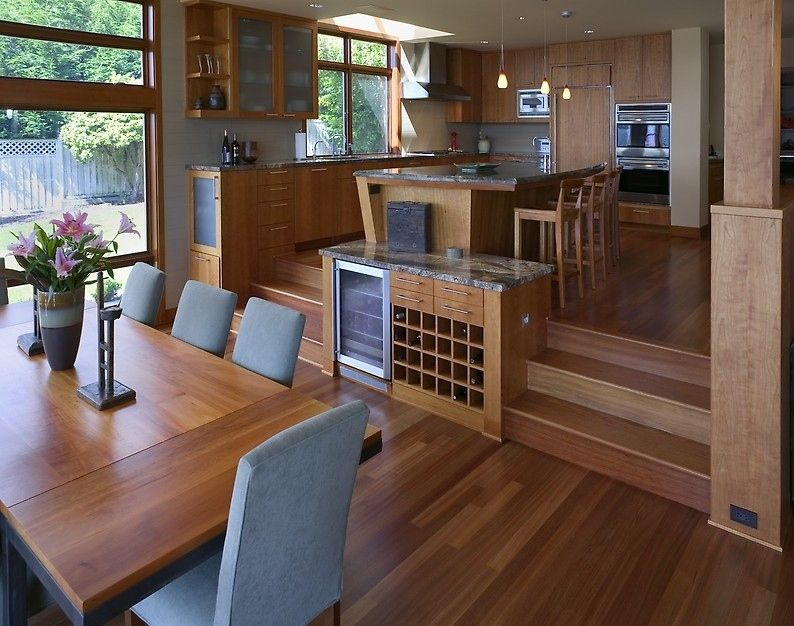 50 dream kitchens you desperately want to cook in porch for Kitchen dining room layout ideas