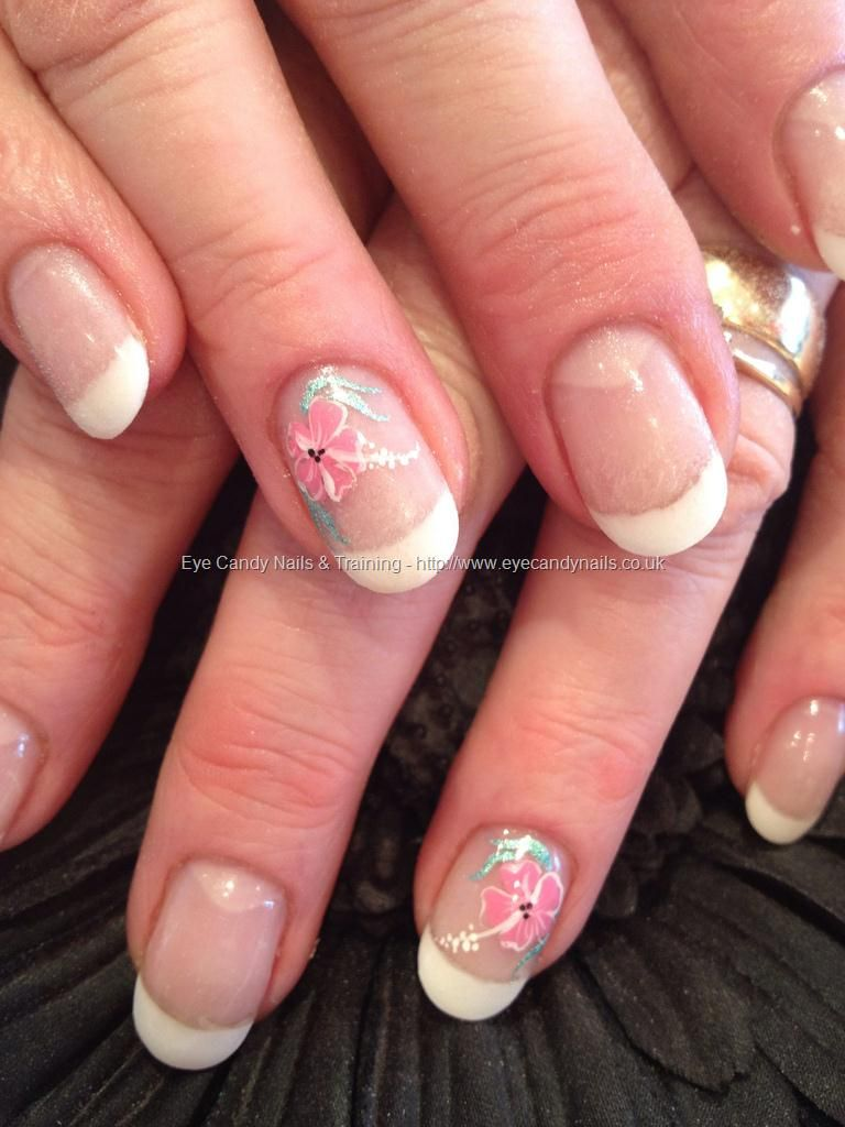 French Soak Off Gel With Freehand Nail Art Nail Designs Pinterest