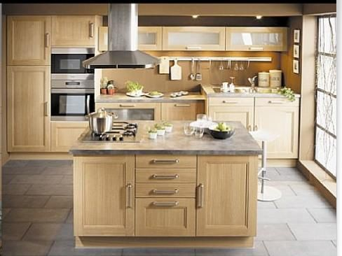 Cuisine design bois massif meuble cuisine bois cuisine Ilot cuisine bois massif