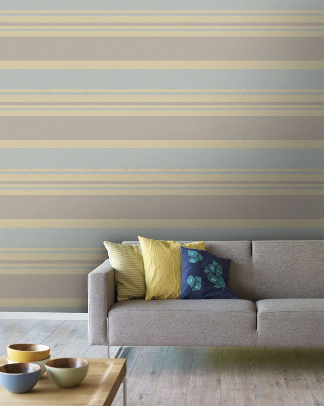 Empapelado rayas anchas horizontales papel de parede estampas empapelados pinterest - Pintar paredes a rayas horizontales ...