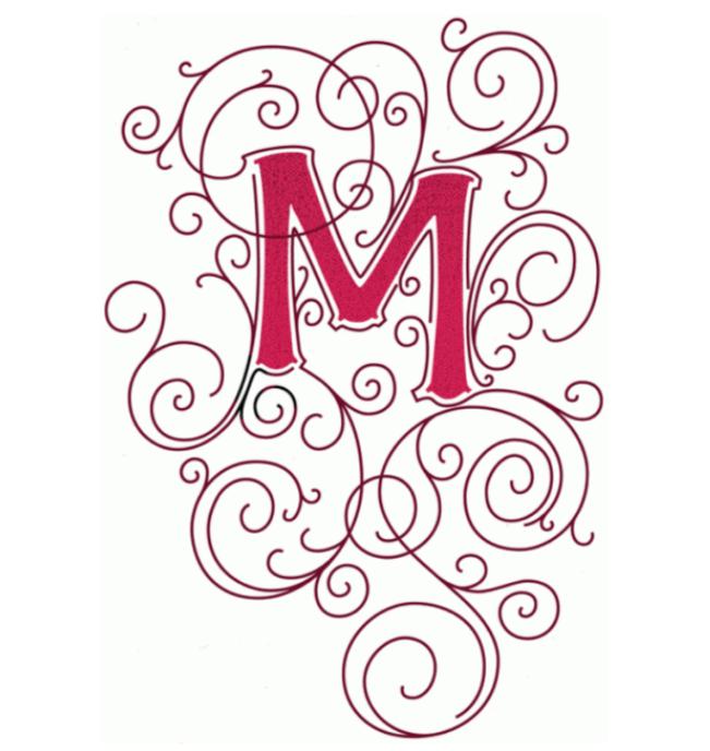 pin marja heemskerk op m monogrammen initialen